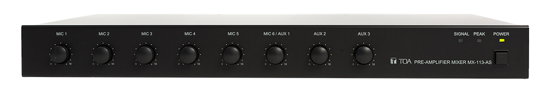Boost your audio signal today with TOA's MX-113 Pre-Amplifier Mixer